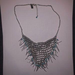 Jewelry: Statement Chain Bib Necklace